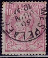 Belgium, 1884, King Leopold, 10c, Bluish, Sc#52, Used - 1905 Thick Beard