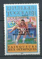 218 TOGO 1986 - Mi 1891 - J O Los Angeles Vainqueur Carl Lewis Or - Neuf ** (MNH) Sans Charniere - Togo (1960-...)