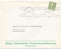 Enveloppe Kuvert - Pub Reklam Östra Värmlands Kristinehamn - Till Hagfors Sverige Zweden 1945 - Postal Stationery