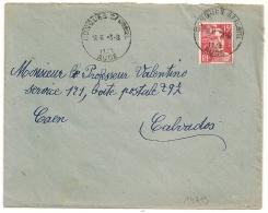 HOROPLAN CONQUES S ORBIEL Aude Sur Enveloppe. - Marcophilie (Lettres)