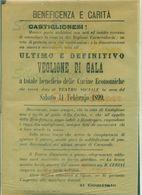 CASTIGLIONE DELLE STIVIERE-LOCANDINA   VEGLIONE CARNEVALE - 1899 - TEATRI - TEATRO SOCIALE - Manifesti