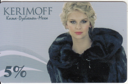 RUSSIA - Girl, Kerimoff, Discount Card, Used - Other Collections