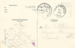 133/26 - Carte-Vue En Service Militaire TERVUEREN 4 Aout 1914 - JOUR DE L'INVASION De La Belgique Par Les Allemands - Guerra '14-'18