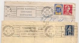 CONSTANTINE Algérie. 2 Mécaniques. 1953. 1957. - Lettres & Documents