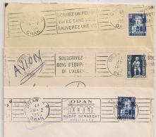 ORAN Algérie. 3 Mécaniques. 1952, 1954 Et 1955. - Lettres & Documents