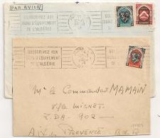 ALGER  Algérie. 2 Mécaniques. 1949. - Lettres & Documents
