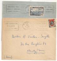 ALGER  R.P. Algérie. 2 Mécaniques. ENGAGEZ VOUS. FOIRE EXPOSITION. - Lettres & Documents