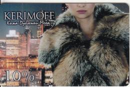 RUSSIA - Girl, Kerimoff, Discount Card, Used - Ohne Zuordnung