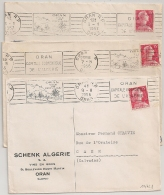 ORAN R.P Algérie. 3 Mécaniques. - Lettres & Documents