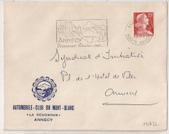 AUTOMOBILE CLUB DU MONT BLANC. LA RESIDENCE. ANNECY. Haute Savoie. 1959 - Marcophilie (Lettres)