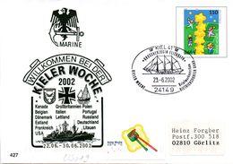 "BRD Amtl.GZS-Umschlag USo 19 M.priv.Zudruck BW MARINE ""KIELER WOCHE 2002"" SSt  23.6,2002 KIEL 41 - [7] Repubblica Federale"