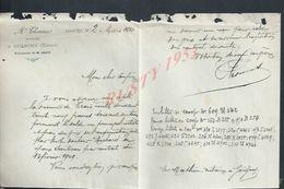 LETTRES DE 1910  ÉTUDE DE M THOMAS NOTAIRE A GUERCHY : - Manuscripts