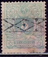 Belgium, 1869-70, Numeral Of Value, 5c, Sc30, Used - 1905 Thick Beard