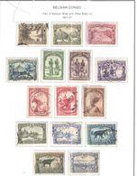 Congo Belga 1931/37 Vedute Sankuru E Scott.139/156+ See Scans - Congo Belga