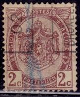 Belgium, 1893-1900, Coat Of Arms, 2c, Sc#62, Used - 1905 Thick Beard