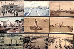 Ostende Oostende - Lot 62 Cartes PK's (animée, Précurseur, Gare, Trenkler, Pêcheurs, Tram, Aquacycle) - Oostende