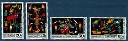 Dahomey (Benin), Tapestries, 1965, MNH VF  Complete Set Of 4 - Benin - Dahomey (1960-...)