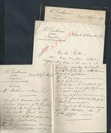 5 LETTRES DE M GUILLAUME NOTAIRE À JOIGNY 1896 ECT : - Manuscripts