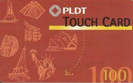 CARTE-PREPAYEE-PHILIPPINES-100U-PLDT-MONUMENTS Du MONDE-TBE - Philippines