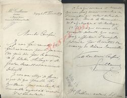 6 LETTRES DE M GUILLAUME NOTAIRE À JOIGNY 1898 ECT : - Manuscripts
