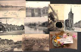 Ougrée - Lot 9 Cartes (précurseur, Quais Louva Vercour, Panorama, Grande Grue - Seraing