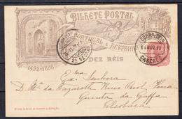 PORTUGAL  1898 ENTERO POSTAL.CAMINHA DA INDIA  BILHETE  POSTAL  DEZ  REIS. USADO  CECI 3  N.80 - Enteros Postales