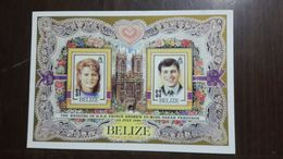 Belize-the Wedding Of H.R.H. Prince Andrew To Miss(23.7.1986)-(1)(1,3$)-(2stamps Block)-mint - Belize (1973-...)