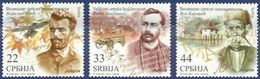 SRB 2012-471-3 FAMOUSE PERSONS WRITERS, SERBIA, 1 X 3v, MNH - Serbien