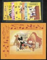 Dominica,  Scott 2017 # 644-653,  Issued 1979,  Set Of 9 + S/S,  MNH,  Cat $ 8.00,  Disney - Dominica (1978-...)