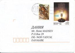 Belarus Cover Sent To Denmark 2-1-2001 Topic Stamps - Belarus