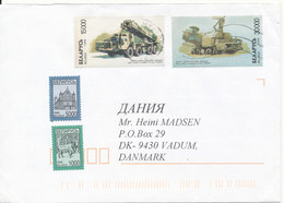 Belarus Cover Sent To Denmark 29-2-1999 Topic Stamps - Belarus
