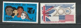 TCHAD  Scott C165, C173 Yvert PA156, PA162  (2) ** Cote 6,75$ 1975 - Tchad (1960-...)