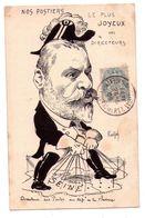 F112 - Caricature - Nos Postiers : Le Plus Joyeux Des Directeurs -signé : RALPH - - Satiriques
