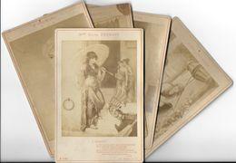 Photographie Lot De 5 Photos Diana COOMANS (4) Et  J.COOMANS (1)  Avec Envoi De Diana Coomans à Mme Dentu (1886-1888) - Famous People