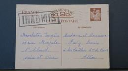 Entier Postal Iris De St Cloud Pour Commune De Vaux Allier Griffe Inadmis  (rédaction Non Conforme) Décembre 1940 - Entiers Postaux