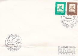URUGUAY, PRIMER VUELO INVERNAL A BASE CIENTIFICA ANTARTICA ARTIGAS. 1990-TBE-BLEUP - Uruguay