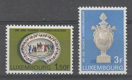 PAIRE NEUVE DU LUXEMBOURG - BICENTENAIRE DE LA FAÏENCE N° Y&T 704/705 - Porcelain
