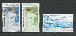TCHAD  Scott 309-310, C195 Yvert 306-307, PA182  (3) ** Cote 9,30$ 1976 - Tchad (1960-...)