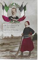 CPA  MILITARIA 1914-18.  S.M. Victor-Emmanuel III Roi D'Italie. Caporal Au 3e Zouaves...B485 - Personaggi