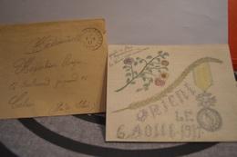 TRESOR ET POSTE 8.8 17   ÉMOUVANTE ;LETTRE  DECORÉE ET ENVOYÉE A SON INFIRMIÉRE PAR UN POILU   LE  AOUT 1917 - Postmark Collection (Covers)