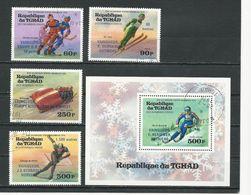 TCHAD  Scott 311-312, C178-C179, C180 Yvert 308-309, PA169-PA170, BF15  (4+bloc) O Cote 5,10$ 1976 - Tchad (1960-...)