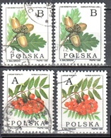 Poland 1995 - Deciduous Trees- Mi 3549-50 X,y - Used Gestempelt - 1944-.... Republiek