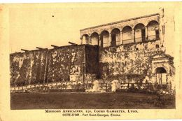 CPA N°18834 - MISSIONS AFRICAINES - 150 COURS GAMBETTA - LYON - COTE D' OR - FORT SAINT GEORGES - ELMINA - Ghana - Gold Coast