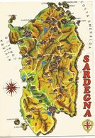 V1657 Sardegna - Carta Geografica Map Carte Geographique / Non Viaggiata - Carte Geografiche