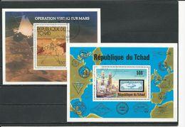 TCHAD  Scott C194, C210 Yvert BF17, BF20  (2blocs) O Cote 6,00$ 1976-77 - Tchad (1960-...)