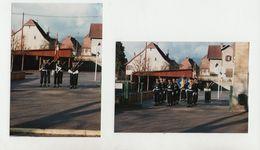 Photos Originales (tirage Octobre 1994) De CHASSEURS Avec Armes - Cérémonie - 1939-45