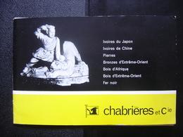 CATALOGUE 1964 CHABRIERES Marseille IVOIRE PIERRES BRONZES BOIS AFRIQUE FER NOIR - Other Collections