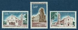 Dahomey (Benin), Cathedrals, 1965, MNH VF  Complete Set Of 3 - Benin - Dahomey (1960-...)