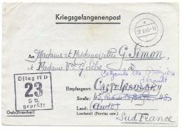 ENVELOPPE PRISIONNIER DE GUERRE 1940 / KRIEGSGEFANGENENPOST - Marcophilie (Lettres)