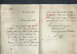 LETTRE DE 1910 DU REG D ORDRE A PISSIER GÉOMÉTRE EXPERT À JOIGNY : - Manuscripts